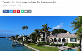 Sarasota Luxury Custom Waterfront Home Sets Bird Key Record