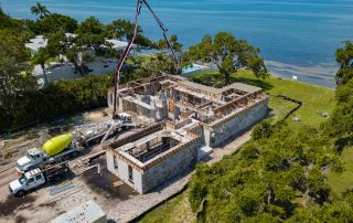 Waterfront Home Construction