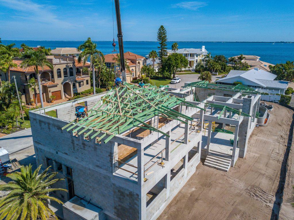 custom waterfront homes